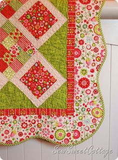 Sew Sweet Cottage: Sew and Show Saturday—#4. Sweet baby quilt…