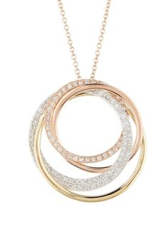 Effy Trio Diamond Pendant Necklace Love how this has a geometric quality, but also echoes a rose shape. Diamond Pendant Necklace, Pendant Jewelry, Diamond Jewelry, Gold Jewelry, Jewelry Accessories, Jewelry Necklaces, Fine Jewelry, Jewelry Design, Vintage Jewellery