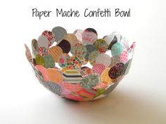 Inkling: Paper Mache Confetti Bowl by Homework