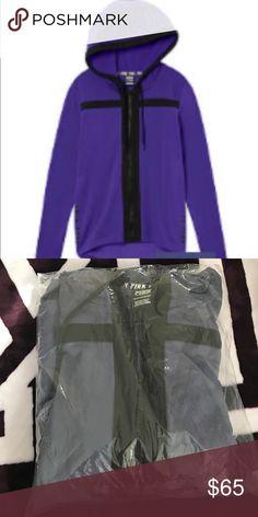 VS PINK High/Low Full Zip Hoodie Brand New. Frosted Blueberry. PINK Victoria's Secret Tops Sweatshirts & Hoodies