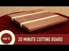 DIY Cutting Board with Inlay | Easy Woodworking Project - YouTube