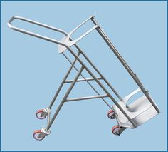 Image of the L-Type Nitrogen Trolley from Paragon Product's range of Cylinder Trolleys. Perfect for transporting nitrogen cylinders in hospitals or psychriatric wards, our trolleys are protective and easy to use. Visit our site for more information.