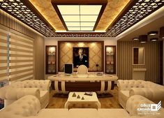 Luxury 42 CNC false ceiling design with LED 2018 – CareDecor Luxury 42 CNC false ceiling design with LED 2018 – CareDecor - Mobilier de Salon Drawing Room Ceiling Design, Pvc Ceiling Design, Bedroom False Ceiling Design, Ceiling Decor, Fall Celling Design, Modern Office Design, Office Interior Design, Interior Exterior, Home Interior