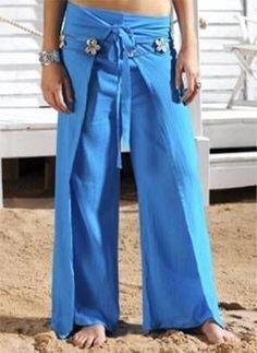 Thai wrap pants tute