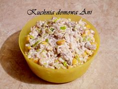 Kuchnia domowa Ani: Sałatka ryżowa z tuńczykiem i porem Finger Food, Potato Salad, Grains, Potatoes, Ethnic Recipes, Potato, Finger Foods, Seeds, Korn
