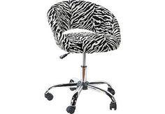 ROOMS TO GO kids Healy Zebra Desk Chair $99.99