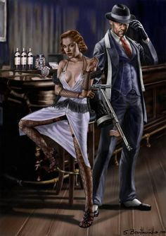 gangsters showdown by SBraithwaite on DeviantArt Gangster Tattoos, Mafia Gangster, Real Gangster, Bonnie Clyde, Pulp Fiction Art, Pulp Art, 1920 Gangsters, Call Of Cthulhu, Crime