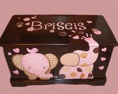 Custom Espresso Elephant  Toy Box