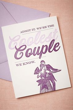 Coolest Couple Card from BHLDN