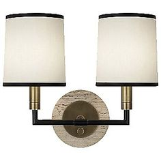 Axis Double Wall Sconce by Robert Abbey- love this!