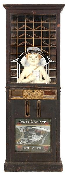 Mills Novelty Co. Cupid's Post Office, dispensed fortunes for men and women.