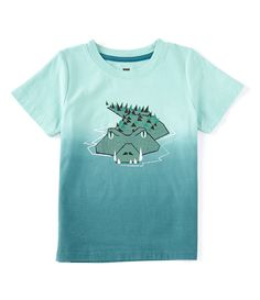 Vintage Style Blue Shark Silhouette 2-6 Years Old Boys /& Girls Short-Sleeved T Shirts