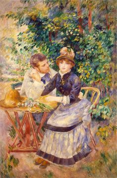 """""""In the Garden""""  --  1885  --  Pierre-Auguste Renoir  --  French  --  Oil on canvas  --  Hermitage Museum  --  St. Petersburg, Russia"""