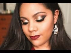 Gold Smokey Eyes - Holiday/New Year's Eve Makeup Gold Smokey Eye, New Years Eve Makeup, Holiday Makeup Looks, Makeup Youtube, Happy Holidays, Eyes, Earrings, Jewelry, Ear Rings