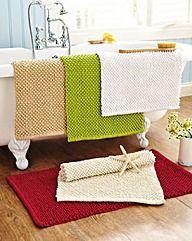 Chenille Bobble Bathmat BOGOF