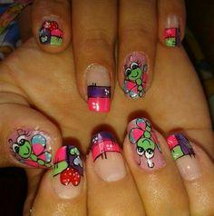 Manicure Y Pedicure, Class Ring, Nail Designs, Nail Art, Nails, Ideas Para, Color, Beauty, Nail