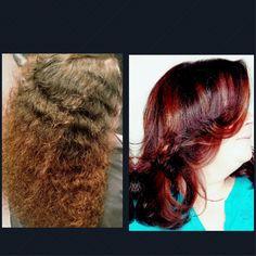 #amazing #transformation #beforeandafter #belousm #rich #red #mahogany #gloss #shine #lakmeusa #lakme #behindthechair #luciacsalon