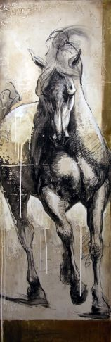 """La lumière à fleur de peau"", want this for my office wall! Painted Horses, Horse Drawings, Art Drawings, Arte Equina, Contemporary Art Gallery, Art Occidental, Horse Artwork, Inspiration Art, Art Abstrait"