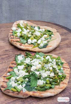Spring Vegetable Grilled Flatbread Pizza Recipe