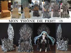 Mon trône de fer! My throne!! <3 Iron throne fimo pâte polymère polymer clay game of thrones got