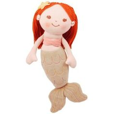 "My Natural Good Earth Girl Mermaid 12"" plush doll by MiYim - $25"