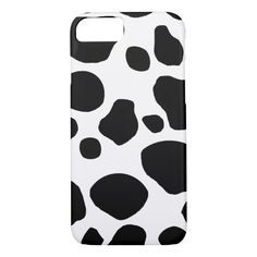 Bold Black and White Cow Spots Pattern Color: black/white. Samsung Galaxy Cases, Iphone Cases, Iphone 8, White Cow, Black And White, Cow Spots, Spotted Animals, Cow Pattern, Customized Girl