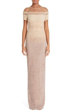 Pamella Roland Signature Sequin Column Gown available at #Nordstrom