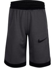 Nike Little Boys Dry Elite Shorts - Dark Grey Elite Shorts, Nike Dri Fit Shorts, Workout Shorts, Pajama Romper, Plus Size Activewear, Dark Grey, Gray, Kids Shorts