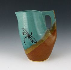 Dragonfly Stoneware Pottery Pitcher in a by NewDayPottery on Etsy, $48.00