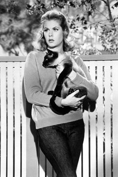 Elizabeth Montgomery is one of the most valuable actresses of Hollywood cinema. Elizabeth Montgomery was born on 15 April 1933 in Los Angeles, California. Elizabeth Montgomery has worked in several successful movies of Hollywood. Celebrities With Cats, Celebs, Crazy Cat Lady, Crazy Cats, Big Cats, Classic Hollywood, Old Hollywood, Hollywood Actresses, Bewitched Elizabeth Montgomery