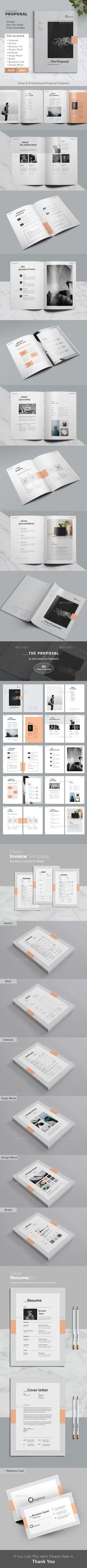 Proposal Pitch Pack - Template PSD, InDesign INDD, AI Illustrator