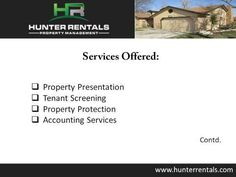 For stylish and affordable apartment for rent in Killeen TX, consider Hunter Rentals & Property Management. The firm provides an array of rental services to both tenants and landlords. From property management and maintenance services to online rent collection and tenant screening, the company provides all the services to the clients in Killeen. For more information, visit : http://www.hunterrentals.com