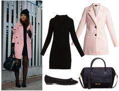 Copia el look de la blogger LovelyPepa con abrigo rosa pastel de @VILAClothes  , vestido de @esamarillolimon, bolso de El Armario de Lulú y bailarinas de @almaenpena.