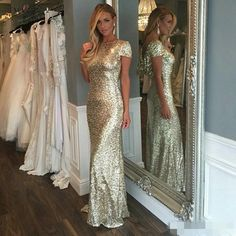 Sparkly Rose Gold Cheap 2015 Mermaid Bridesmaid Dresses Off Shoulder Sequins Backless Plus Size Beach Wedding Gown Light Gold Champagne Peach Bridesmaid Dresses Silver Bridesmaid Dresses From Elegantdresses, $73.87| Dhgate.Com