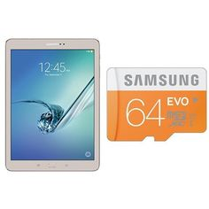 "Samsung Galaxy Tab S2 9.7"" (32GB, Gold) and 64GB EVO Class 10 Micro SDXC (MB-MP64DA/AM)  http://www.amazon.com/dp/B0182YE8SU/ref=cm_sw_r_pi_dp_tPVexb1ZK1DM9"