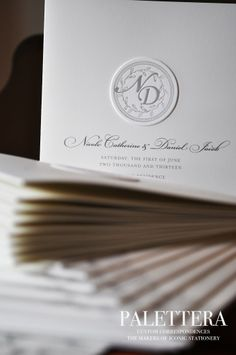 Beautiful Classic Wedding Programs www.palettera.ca