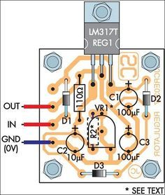 How to build Adjustable Regulated Power Supply - circuit diagram Simple Electronics, Hobby Electronics, Electronics Components, Electronics Projects, Simple Electric Circuit, Installing Electrical Outlet, Battery Charger Circuit, Simple Arduino Projects, Power Supply Circuit