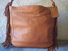 Extraordinary Ralph Lauren Collection Western Fringed Leather Bag. Nwt.