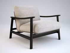 Zanotta, Sushi  Carlo Colombo, 2005    Frame in natural or wenge-stained oak. Cushion-holding steel frame varnished aluminium. Elastic strip springing. Cushions upholstered in goose down. Removable cover in fabric or leather.