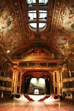The beautiful Blackpool Tower Ballroom by Kippa2001, Lancashire, UK. Built in 1894 and designed by Frank Hatcham. Blackpool is a seaside town famous for it's fun park and illuminations.