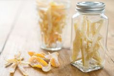 Candied Lemon Peels // These deliciously sweet and tart candies are wonderful when dipped in white or dark chocolate! #holiday #gift #recipe