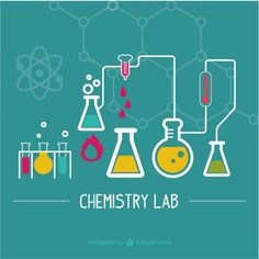 Science laboratory illustration Free Vector