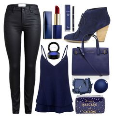 """Midnight blue"" by bluebunny255 ❤ liked on Polyvore featuring Sole Society, Kurt Geiger, C/MEO COLLECTIVE, Surratt, NARS Cosmetics, Tri-coastal Design, Estée Lauder, MAC Cosmetics and Christian Dior"