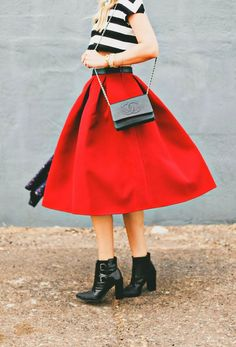 How to Chic: FABULOUS MIDI SKIRTS