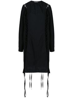 lace-up shirt dress Compare Price Cotton Lace, Black Cotton, Suits For Women, Clothes For Women, Laced Up Shirt, Damir Doma, Work Fashion, Fashion Design, Collar Styles