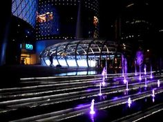 Orchard ION Lit Fountain Steps