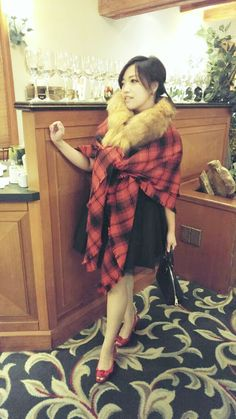 Her Sassy Closet: Ideas to Spice up your Holiday Outfit Holiday Outfits, Spice Things Up, Sassy, Festive, Fur Coat, Spices, Seasons, Chic, Jackets