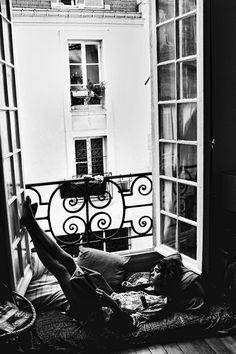 quentindebriey:  Steffy at home.Paris june 2014