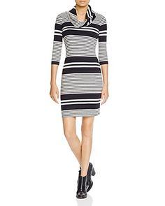 THREE DOTS Stripe Cowl Neck Dress. #threedots #cloth #dress