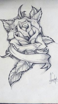Old drawings art is part of Rose drawing tattoo - Old Old See it Pencil Drawings Of Flowers, Pencil Art Drawings, Art Drawings Sketches, Love Drawings, Tattoo Sketches, Rose Drawing Tattoo, Tattoo Design Drawings, Rose Zeichnung Tattoo, Chicano Drawings